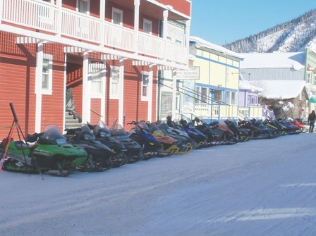 Sleds lined up