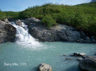 Pond-waterfall