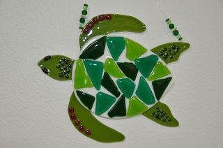 White-green-turtle