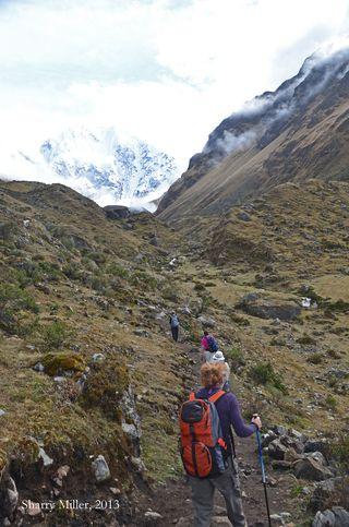 Hikers-leaving-Salkantay-Lodge