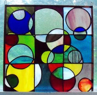 Circles and squares glass