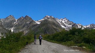 Hikers-on-Archangel-Road